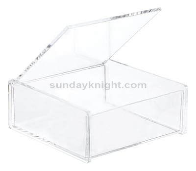 Perspex box with lid, Lucite box with hinged lid – Custom made service