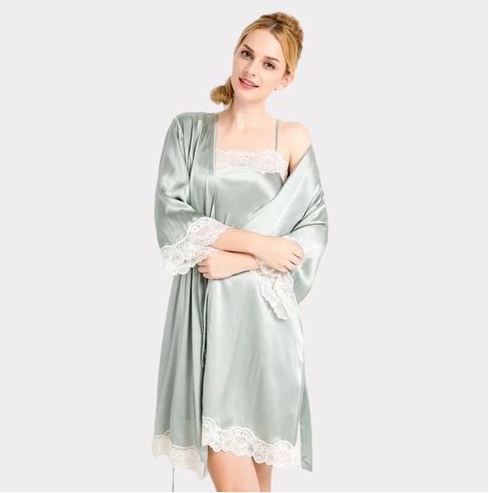 22 Momme High Quality Women's Lovely Silk Robe Set