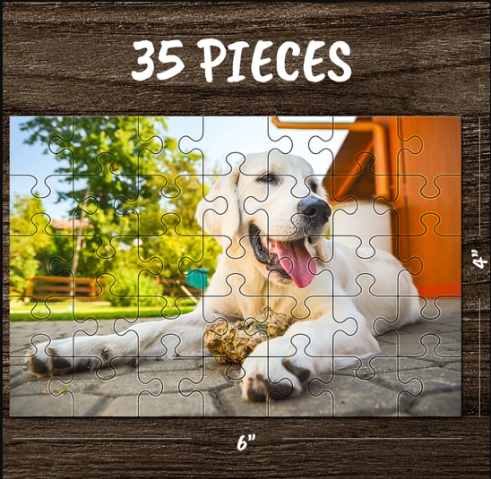 CUSTOM PHOTO JIGSAW PUZZLE BEST STAY-AT-HOME GIFTS-35-1000 PIECES