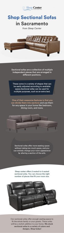 Shop Sectional Sofas in Sacramento from Sleep Center