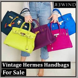 Vintage Hermes Handbags For Sale at Rewind Vintage Affairs