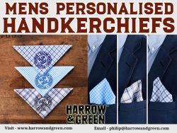 Mens Personalised Handkerchiefs At Harrow & Green Partners Ltd