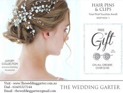 Bridal Hairclips & Hairpins At The Wedding Garter