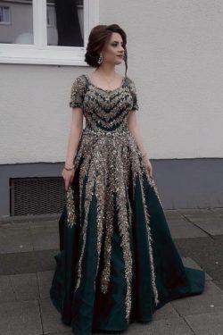 Schöne Abiballkleider Online Kaufen | Dunkelgrünes Kleid Abendkleider