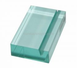Acrylic Block Sign Holder Acrylic Block with Slot – Factory direct sale