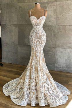 Designer Hochzeitskleid Meerjungfrau | Brautkleider mit Spitze