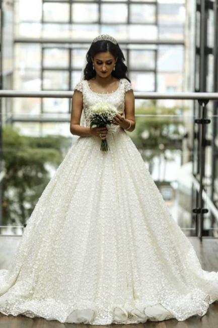 Elegante Brautkleider A linie | Spitze Hochzeitskleider Online