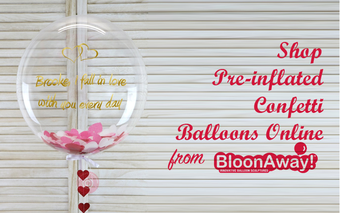 Shop Pre-inflated Confetti Balloons Online from BloonAway