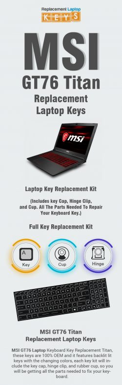 Buy Genuine MSI GT76 Titan Replacement Laptop Keys Online
