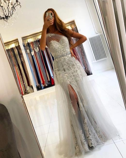 Elegante Abendkleider Lang Spitze | Abiballkleider Glitzer