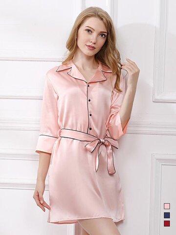 19 Momme Women's High Quality Silk Sleep Shirt