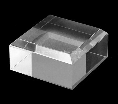Custom acrylic beveled display block, perspex display block