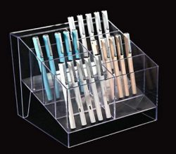 Custom acrylic pen display holder, Clear acrylic pen holder organizer