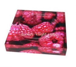Custom acrylic soap dish with UV printing AB-093