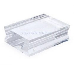 Custom acrylic stamp block with finger groove NBL-064