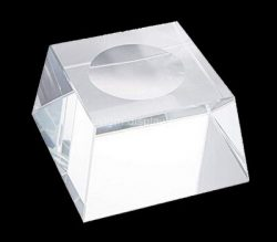 Custom clear perspex soap dish block, acrylic soap dish