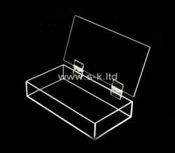 Custom clear plexiglass organizer box, acrylic storage box