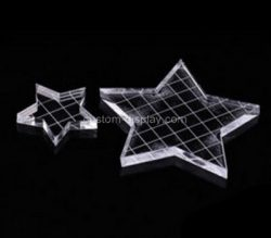 Custom five star shape acrylic stamp block, plexiglass stamping block