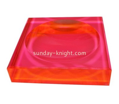 Custom neon red acrylic soap dish ABK-084