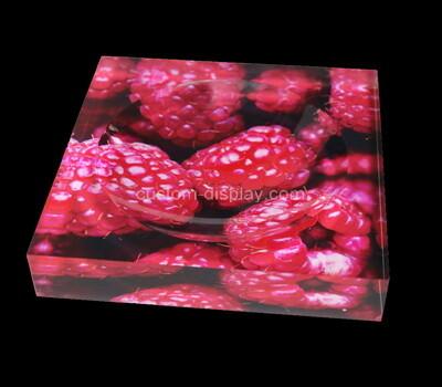 Custom perspex UV printing soap dish, acrylic soap dish