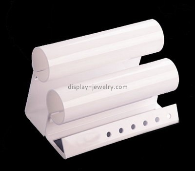 Custom retail white acrylic watches display stand WDJ-055