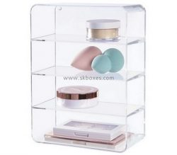 Custom 4 tiers clear plexiglass display case BDC-2151