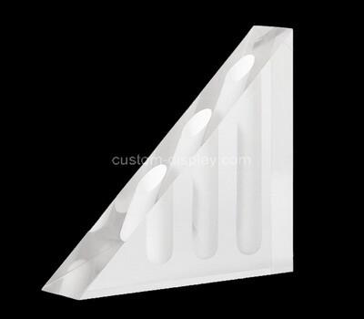 Custom triangle perspex display block, acrylic display holder block