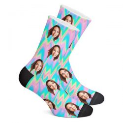 Trippy Style Custom Face Socks