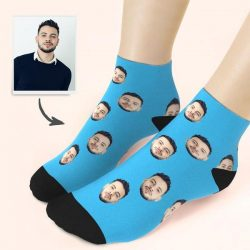 Custom Face Low Cut Ankle Socks