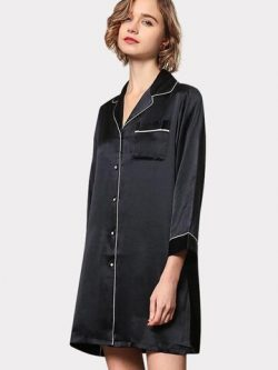 22 Momme High Quality Women's Classic Silk Sleep Shirt