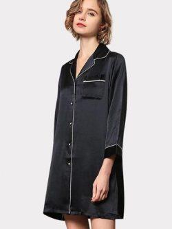 22 Momme High Quality Women's Classic Silk Sleep Shirt