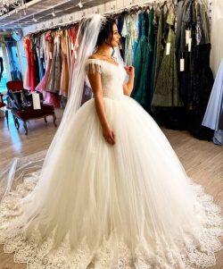 Elegante Brautkleider Prinzessin | Hochzeitskleider mit Spitze