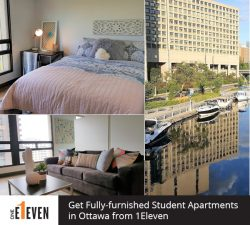 Get Fully-furnished Student Apartments in Ottawa from 1Eleven
