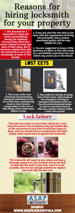 Hiring locksmith for your property