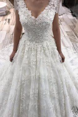 Wunderschöne Brautkleider Mit Spitze | Hochzeitskleider A linie Online