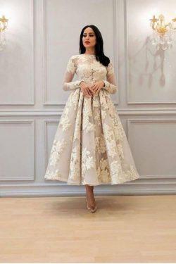 Elegante Cocktailkleider Kurz Weiß | Abendkleider Mit Ärmel