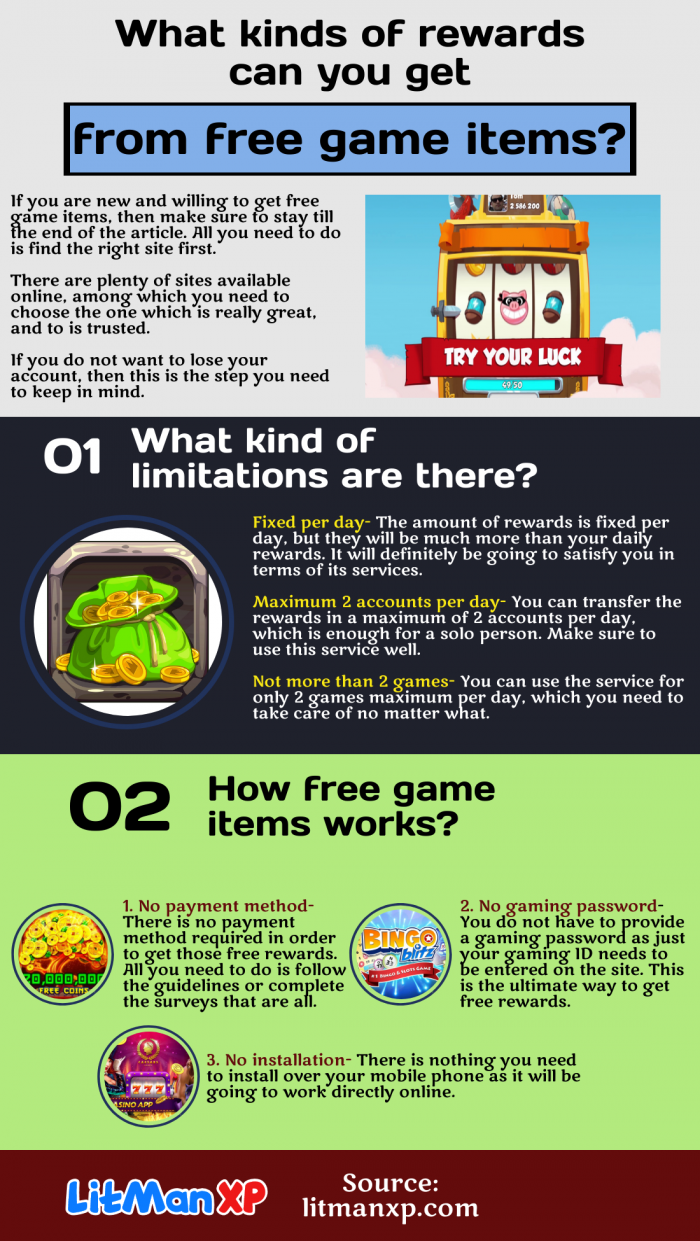 How to make free game items work in the gaming account