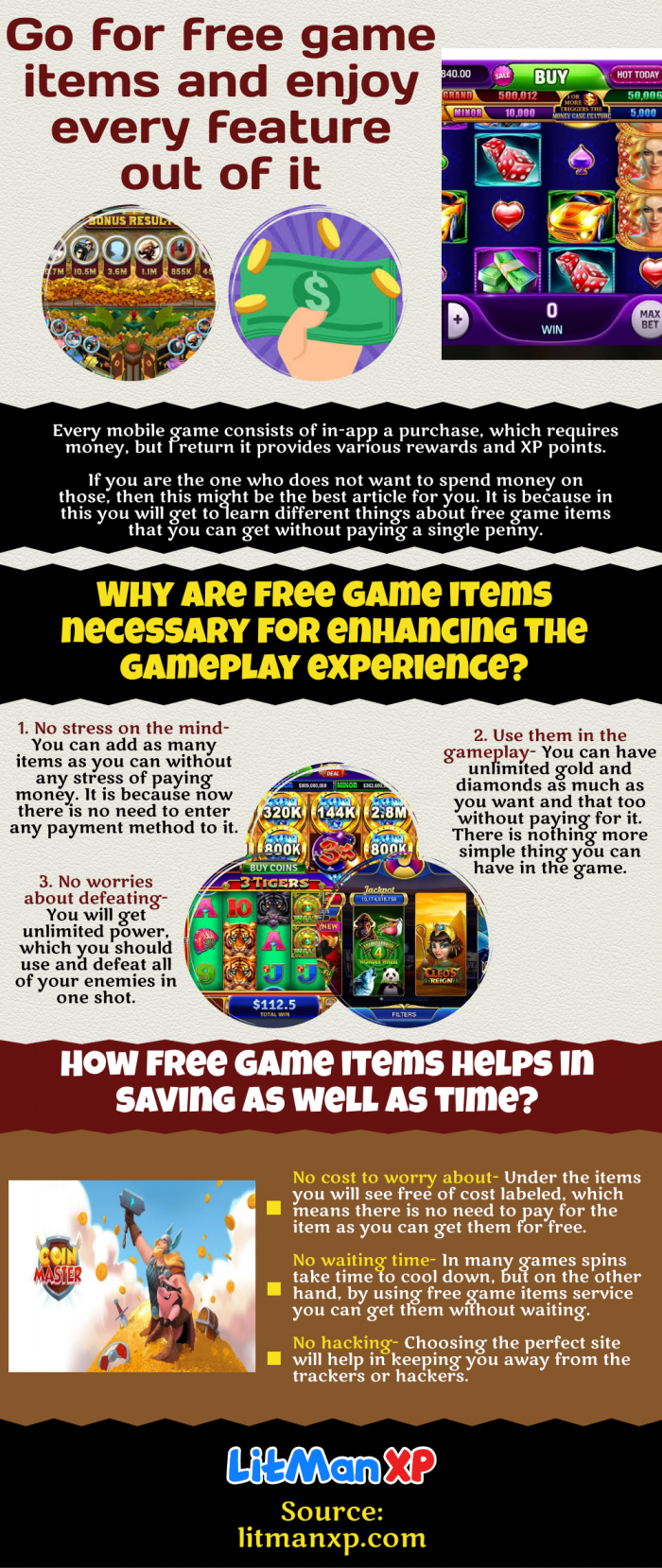 How free game items helps in saving time