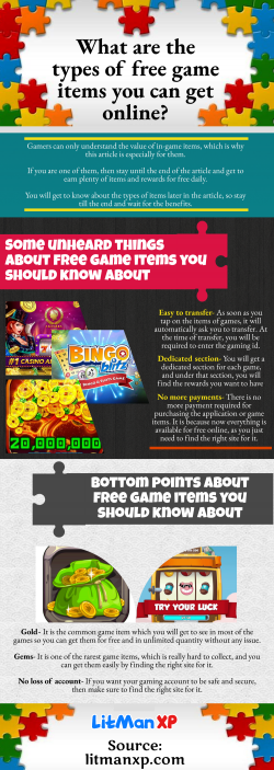Important benefits of Free game items