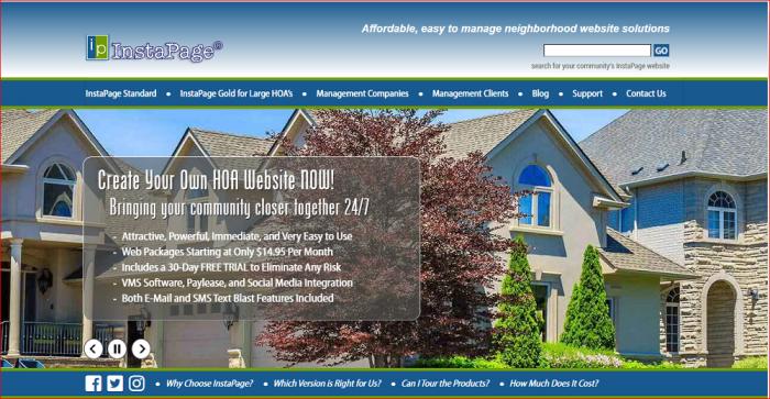 Homeowners association website