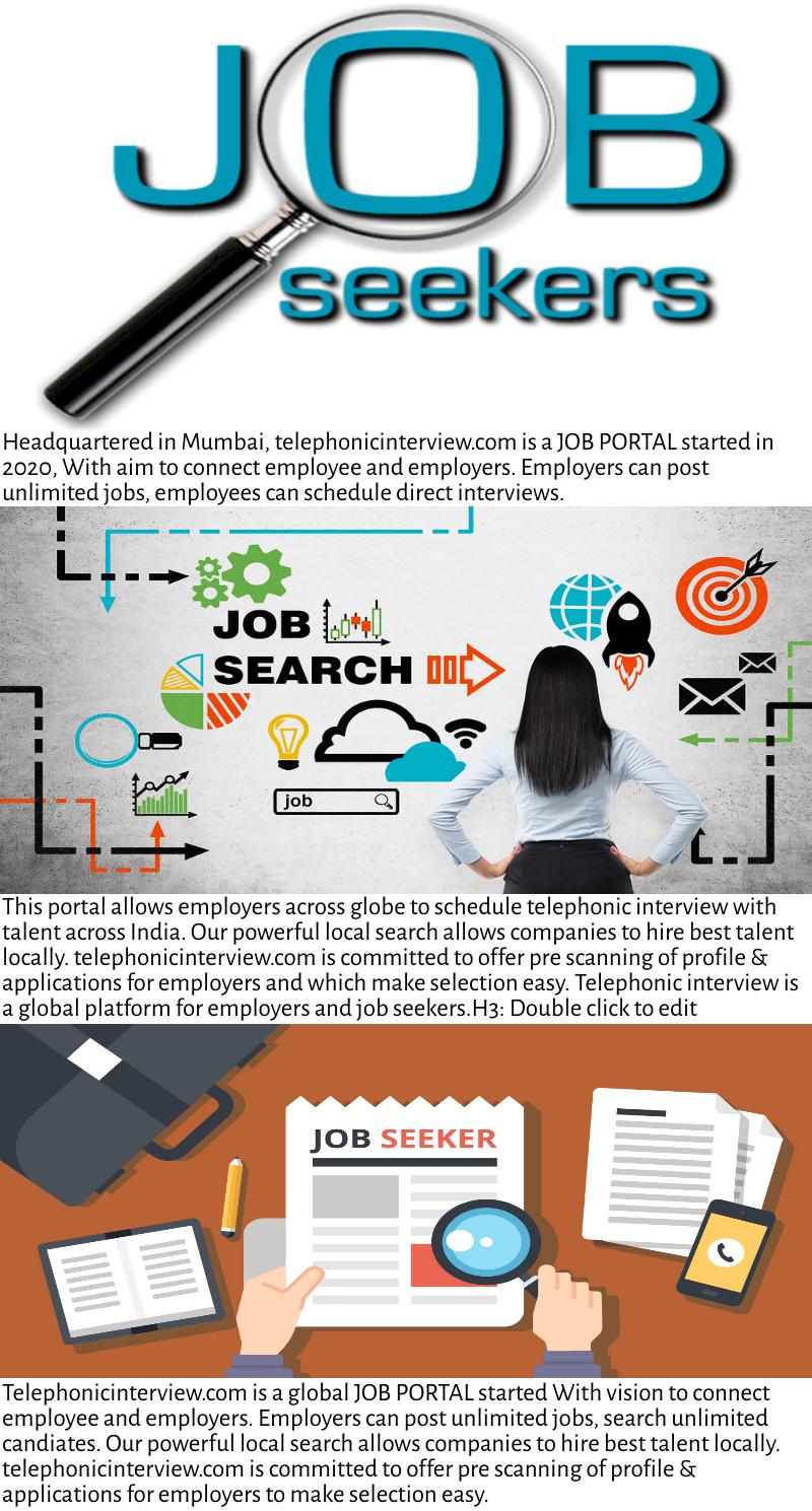 Job portal for employee