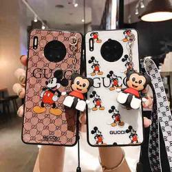GUCCI&ディズニー iphone11pro maxケース かわいい ミッキー柄 ぬいぐるみのストラップ付きTPU製 H ...