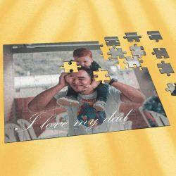 Custom Photo Jigsaw Puzzle Best Gifts I Love My Dad 35-1000 Piece