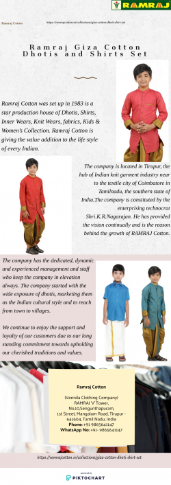 Ramraj Giza Cotton Dhotis and Shirts set