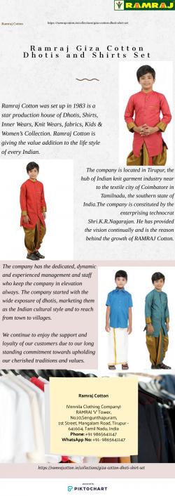 Ramraj Giza Cotton Dhotis and Shirts set