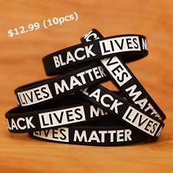 10 Black Lives Matter Silicone Wristbands – Speak Up!