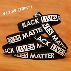 10 Black Lives Matter Silicone Wristbands – Speak Up!