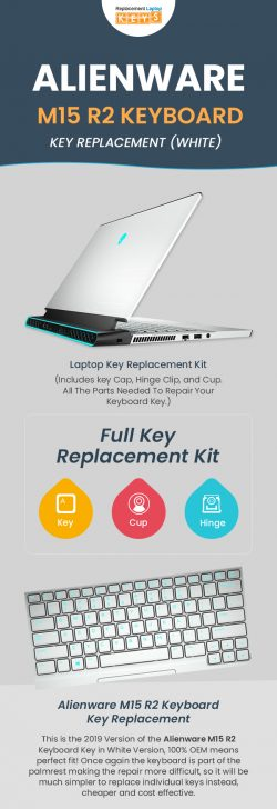Shop 100% OEM Alienware M15 R2 (WHITE) Laptop Keys from Replacement Laptop Keys