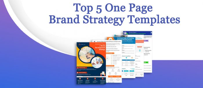 Top 5 One-Page Brand Strategy Templates