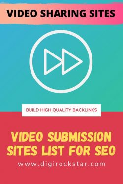 Video Sharing Sites | Video Submission Sites List With High PR For SEO 2020 | Build Backlinks